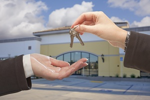 a person getting the keys after they learned to file a mechanics lien