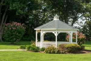 DIY Gazebo Landscaping Idea
