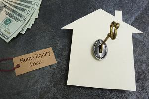 HELOC or home equity line of credit concept