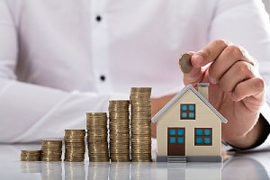 Refinancing mortgage concept. Refinancing involves consolidating your home equity line of credit or HELOC