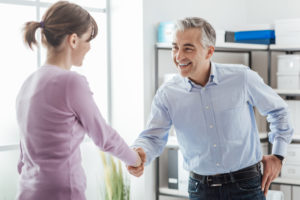 new homebuyer meets with a title company employee to discuss options