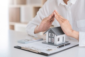 insurance protective hand over house for protection and care