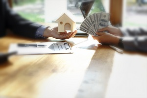 home loan customer buy home and get money from bank or recived money from buyer